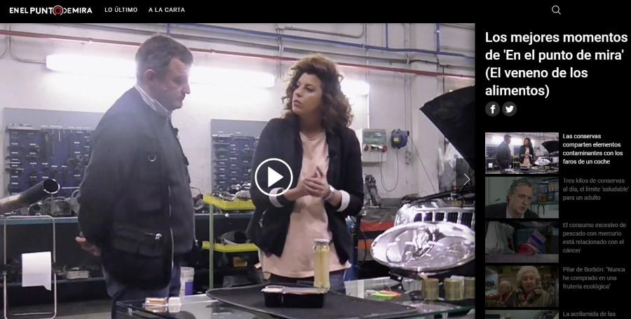 El veneno en los alimentos. Documental de Cuatro TV. Imagen del programa